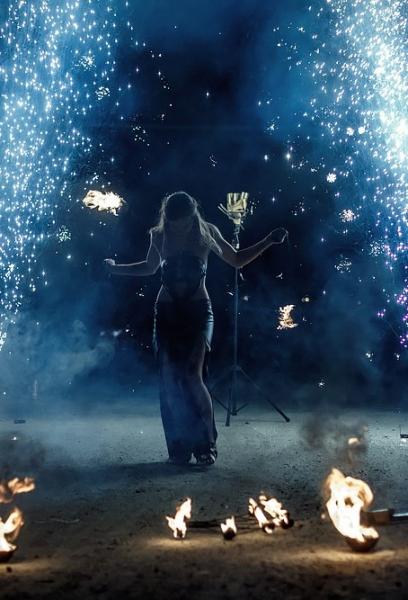 Огненное фаер шоу на свадьбу